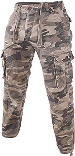 Hombres Persona Que Practica Jogging Carga Pantalones con Multibolsillos Cónico Ajustado 100% algodón Vintage Pesado