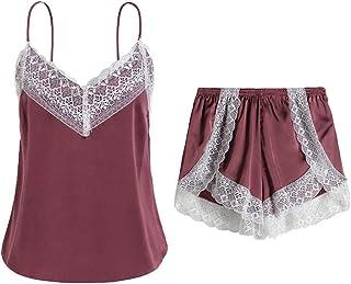 Sentao Women's 2pcs Pyjama Set Pajamas Short Sleeve V Neck Set with Pants/Shorts Casual Homewear Suits