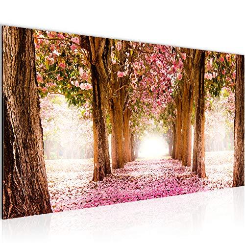 Bilder Wald Sonne Wandbild 100 x 40 cm Vlies - Leinwand Bild XXL Format Wandbilder Wohnung Deko Kunstdrucke - MADE IN GERMANY - Fertig zum Aufhängen 605612a