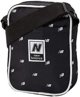 New Balance Men's and Women's Classic Crossbody Bag - AOP600D Polyester Plain Weave, Black Multi