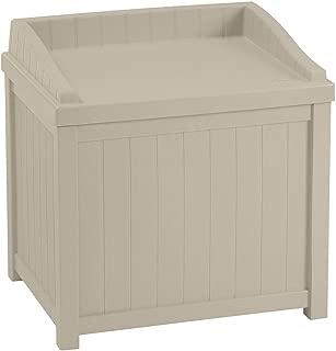 Suncast SS1000 TRV684546 Resin Storage-Decorative Outdoor Patio Seat, 24