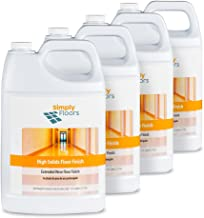 Simply Floors FLC-00039 High solids Floor Finish - [Pack of 4 - 2.5 gallon bottles] Premium High Solids, High Gloss, Floor Finish, Wax and Polish Coating and Protecting Solution