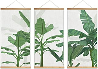 wall26 Hanging Poster with Wood Frames Beautiful Green Plants Home Wall Canvas Prints Ready to Hang - 18