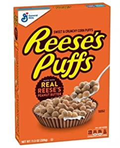 Reese's Puffs Breakfast Cereal, Chocolate Peanut Butter with Whole Grain, 11.5 oz