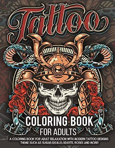 Tattoo Coloring Book for Adults Over 300 Coloring Pages For Adult Relaxation With Beautiful product image