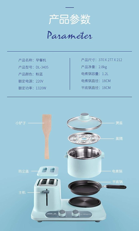 Machine À Petit-Déjeuner Domestique Machine À Petit-Déjeuner Multifonctionnelle Trois-En-Un Sandwich Dortoir Pot Pot Électrique Ragoût B A