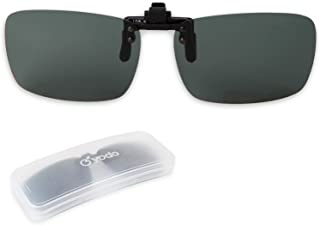 Yodo Upgraded Polarized Flip up Clip on Sunglasses Over Prescription Glasses for Men Women Driving Fishing Outdoor Sport,Gray