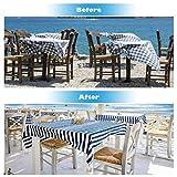 LATTCURE 8 Stück Tischdeckenbeschwerer Outdoor, Edelstahl Tischtuchbeschwere Set mit Stahlclips, Tischtuchklammern für Dicke Tischplatten, Tischtuchhalter für Drinnen Draußen, Haus, Restaurant - 6