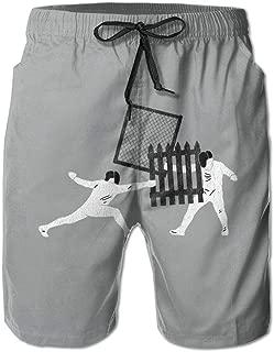 Esgrima para Hombre Boardshorts Pantalones Cortos para el Tablero Pantalones Cortos de Entrenamiento de Secado rápido Bañadores para Hombre