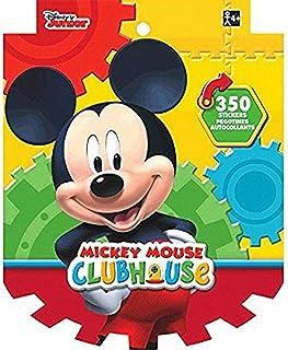كتاب ملصقات ديزني ميكي ماوس للاطفال من امسكان (أكثر من 350 ملصق)- عبوة واحدة