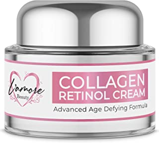 L'amore Beauty Day and Night 30mL Retinol Cream, Face Moisturizer for Women, Antiaging Cream Firms and Lifts Wrinkles, Fine Lines, Hydrating Face, Neck