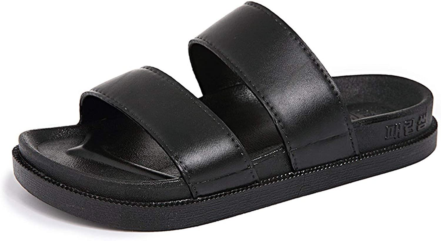 Can't be satisfied 2019 Sandals Men Home Slippers Leather Slippers Mens Slides Non-Slip Badslippers Summer Sandals Men Flip Flops