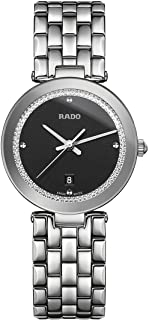 Rado Women's Black Dial Metal Band Watch - R48874153