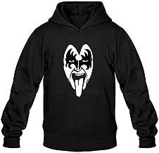XIULUAN Men's Gene Simmons Logo Hooded Sweatshirt XXL Black