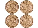 Creative Tops Set of 4 Natural Water Hyacinth Weave PLACEMATS Tablemats by