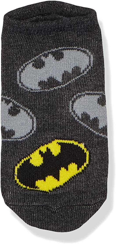 BATMAN boys Batman 5 Pack No Show Socks