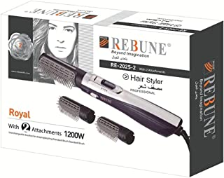 REBUNE RE-2025-2 Multifunction Hair Electric Comb Fast Heating (3s) Hair Styler with 2 Brush