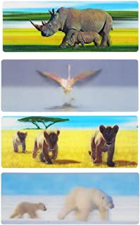 3D Bookmark Animal Bookmark Kids Bookmarks for Teens 4pcs