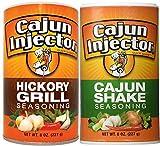 2 pack - Cajun Injector Shake Bundle ,Cajun Injector Shake Seasoning 8oz Canister and Cajun Injector Hickory Grill Shake Seasoning 8oz Canister Quick Shake Spices