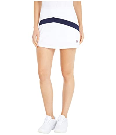 Fila Heritage Tennis Color-Blocked Skort (White/Navy/White) Women