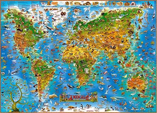 WLH- Heart Shaped Kleurrijke Bloem - legpuzzels for volwassenen 1000-Piece-doe-puzzel Kids Wooden Toys (Color : C)