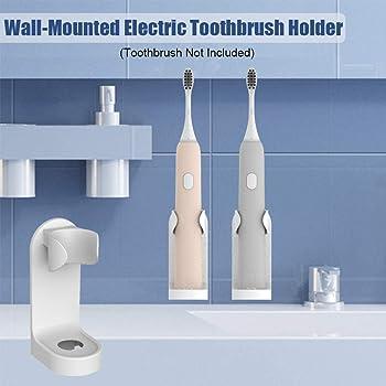 Blanco acr/ílico personalizable color blanco 1 Toothbrush /& Toothpaste Soporte de pared para cepillo de dientes el/éctrico y pasta de dientes