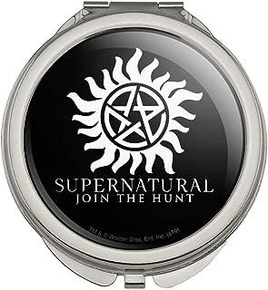 Supernatural Anti Possession Symbol Compact Travel Purse Handbag Makeup Mirror
