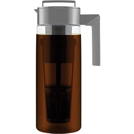 Takeya Patented Deluxe Cold Brew Coffee Maker, Two Quart, Stone