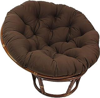 Columpio Colgante Silla Cojín Cojín de silla de Papasan grueso, cómodo y suave, almohadillas redondas para colgar en forma de huevo con forma de hamaca, cojín de asiento de cesta colgante para colump