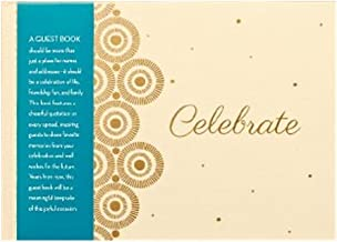 Celebrate: All-Occasion Guest Book by Compendium - 80 pages with inspiring quotations and lined pages