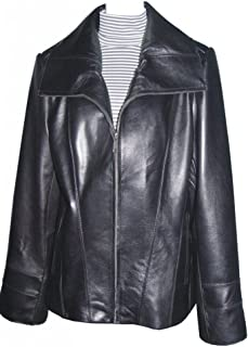 85946900c91 Paccilo Big and Tall Women 4042 PLUS Lambskin Real Leather Jacket