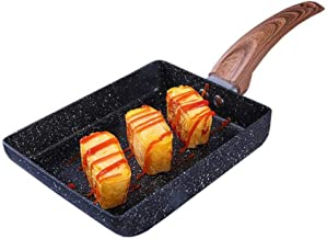 YWH-WH Home Pan Non-stick Pan Japanese Style Frying Pan Melaleuca Omelet Pot Gas Stove Induction Cooker Universal