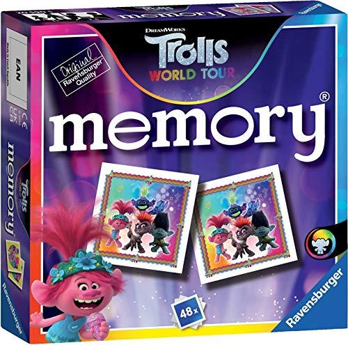 Trolls 2 World Tour - Mini-Memory-Spiel. Versuchen Sie, Paare Ihrer Lieblingsfiguren zu Finden und testen Sie Ihr Gedächtnis.