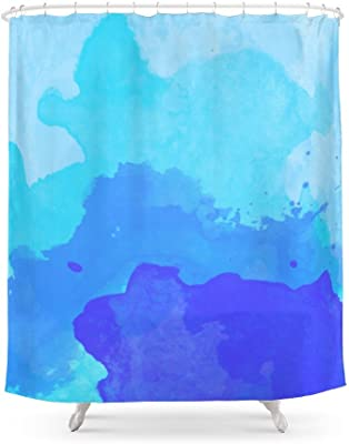 Society6 Beach Bright Blue Shower Curtain 71 By