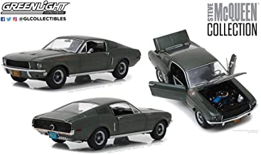DIECAST 1:18 Hollywood - Steve McQueen Collection - Unrestored 1968 Ford Mustang GT Fastback 13523GRN by Greenlight