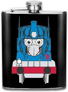 Opthomas Prime TRAN-SFORMERS Thomas The Tank Engine Print Hip Flask Pocket Bottle Flagon 7oz Portable Stainless Steel Flagon