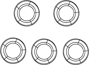 tatoko 5 Pack Black Wire Wreath Frame Christmas Holiday New Year Metal Wire Ring Valentines Decorations for Floral Arrangements 8 Inch
