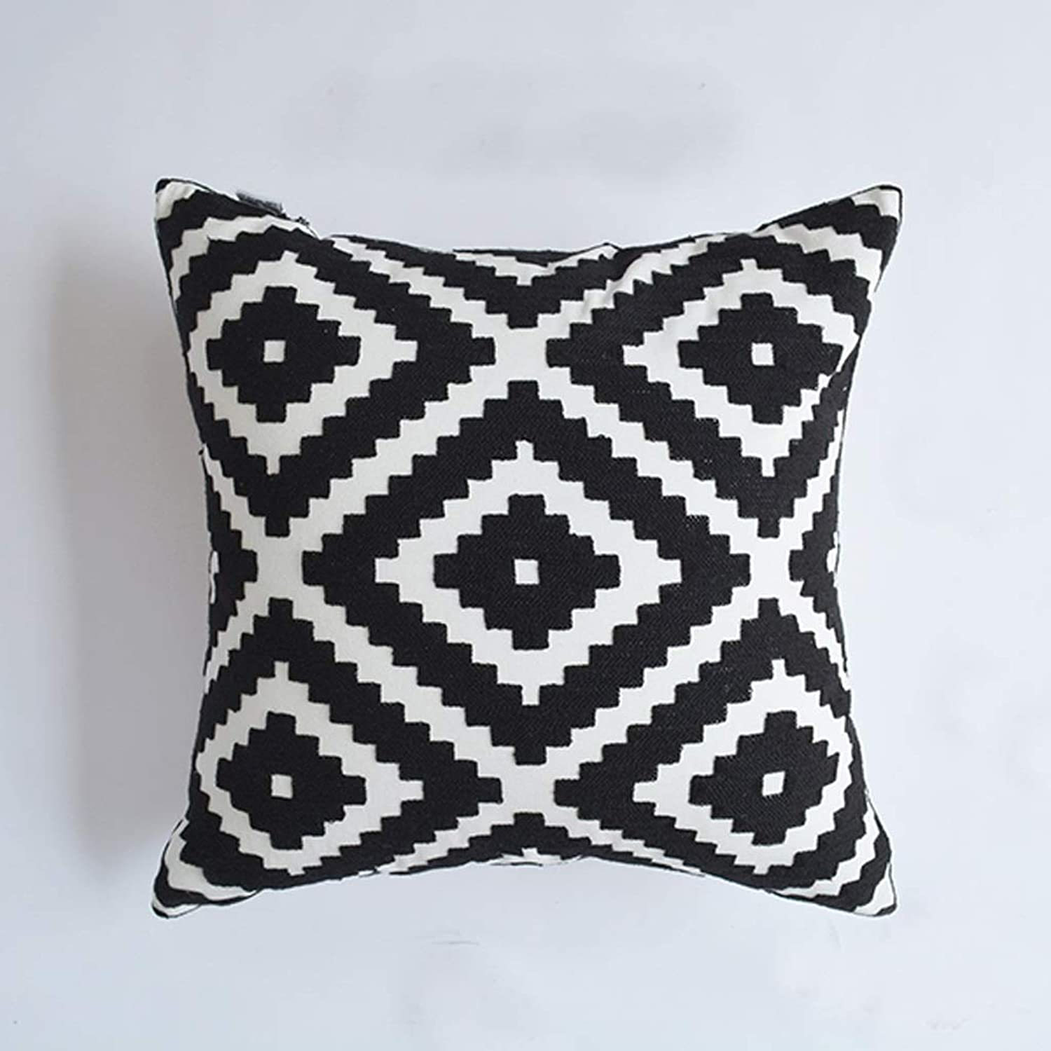 QYSZYG Pillow Sofa Cushion Living Room Home Bedroom Embroidery Model Room Geometry, Multi-color Optional Pillow (color   C)