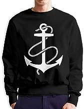 Anchors Aweigh Men's Cotton Sportswear Pullover Hoodie Crew Neck Sweatshirt