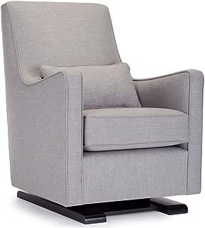Monte Design Upholstered Modern Luca Glider Chair, Pebble Grey