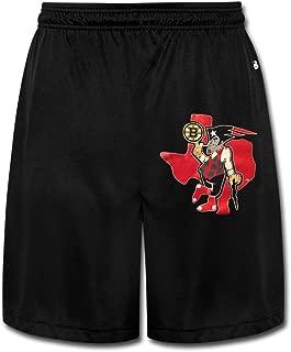 AOLM Mens Performance Shorts Sweatpants Trousers Boston Black .