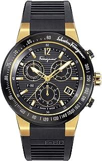 Men's F-80 Chrono Quartz Watch with Rubber Strap, Black, 26 (Model: SFDL00318)