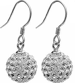 S925Sterling Zilveren Oorbellen Mode Volledige Diamanten Oorhaak Vrouwelijke Eenvoudige Shambhala Oorbellen