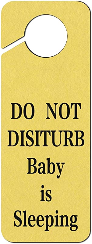Evelth Do Not Disturb Baby Is Sleeping Plastic Door Knob Hanger Sign