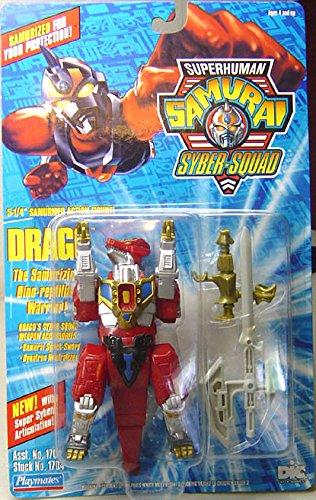 Drago Action Figure: The Samurizing Dino-Reptilian Warrior - Superhuman Samurai Syber-Squad