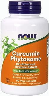 NOW Supplements, Curcumin Phytosome, Bio-Enhanced Turmeric Extract, 60 Veg Capsules