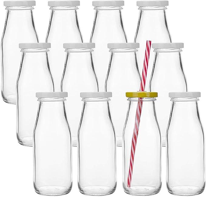 208 opinioni per Lawei- 12 Bottiglie Smoothie Bottiglia Bottiglie di Vetro vuote Latte o per
