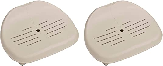Intex 28502E PureSpa Slip Resistant Removable Contoured Seat Hot Tub Spa Accessory with Adjustable Heights, Tan, 2 Pack