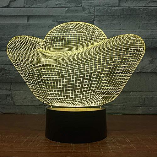 3D-Illusionslampe LED-Nachtlicht Goldbarren 7 Farbvarianten USB-Touch für Tischlampe Nachttisch für Geschäftsbeziehungsgeschenk
