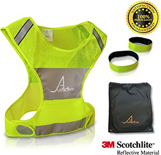 Best 3M Reflective Vest for Running & Cycling, Premium Quality, Reflective Running Gear Clothes Men Women Kids, Safety Vest, Walk Bike Jog Hike with High Visibility, Free 3M Bands & Bag